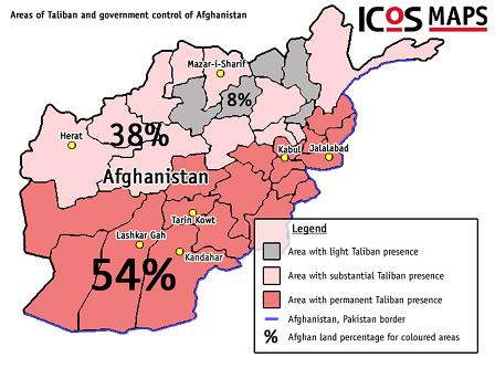 ICOS Afghan Resistance Controls Of Afghanistan Of Roads - Afghanistan map us